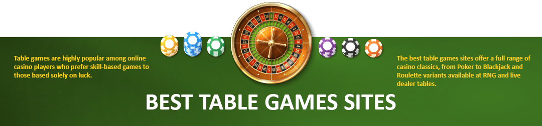 best table games sites