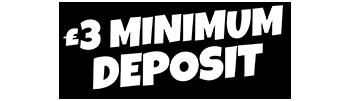 £3 minimum deposit