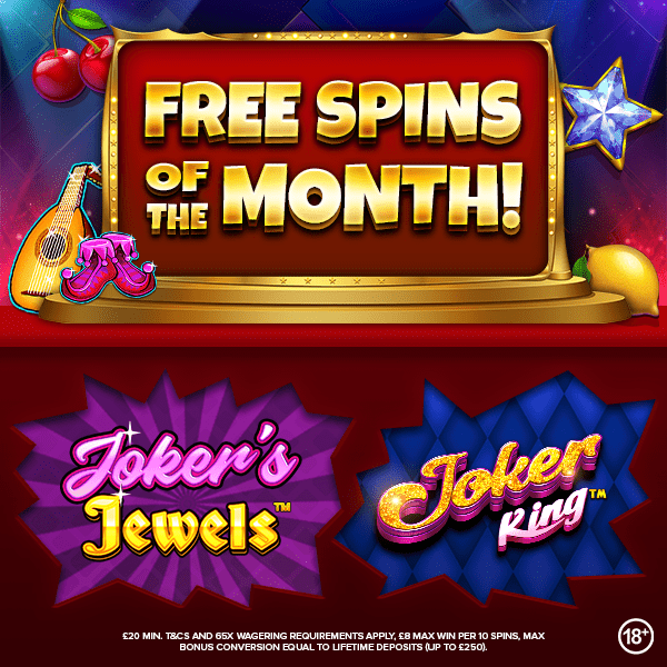 free spins of the month jumpman