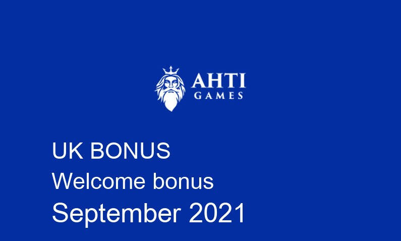 Latest Ahti Games Casino UK bonus spins September 2021, 50 bonus spins