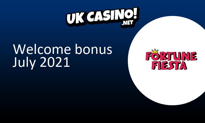 Latest Fortune Fiesta Casino bonus July 2021, 50 Free spins