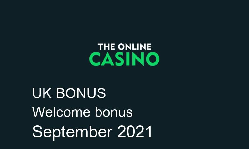 Latest TheOnlineCasino bonus spins for UK players September 2021, 20 bonus spins
