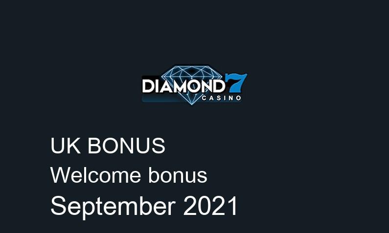 Latest UK bonus spins from Diamond7 Casino, 25 bonus spins