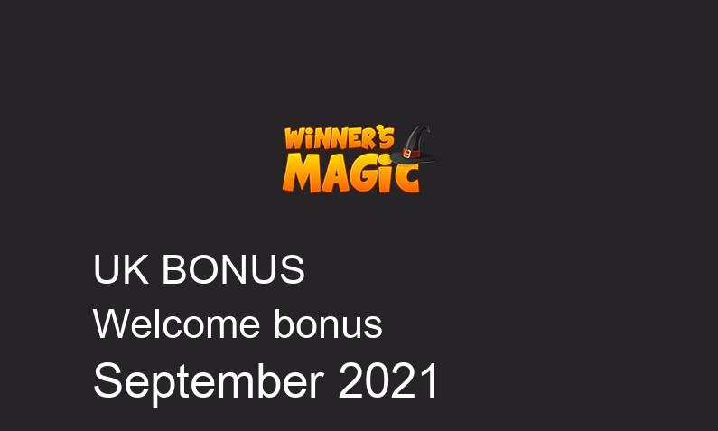 Latest Winners Magic bonus spins for UK players September 2021, 25 bonus spins